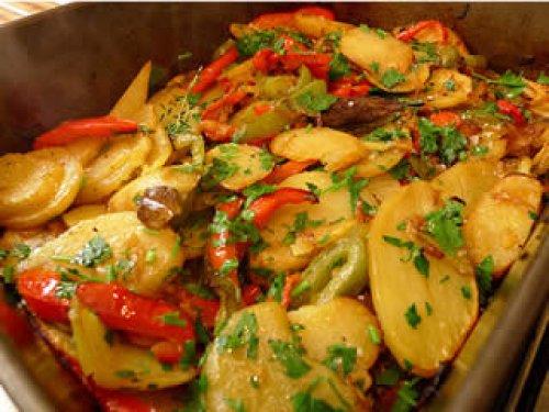 Patatas a lo pobre al horno
